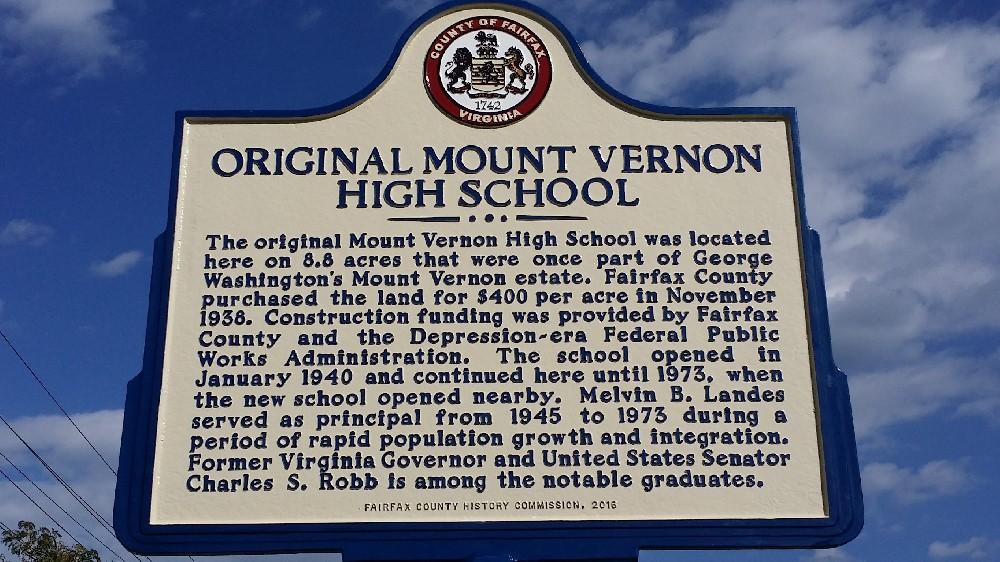 Mount Vernon historic marker