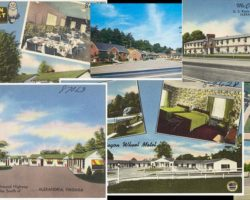 composite of motel postcards