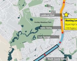 Map showing widening project and BRT project