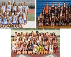Three team pictures together in a collage