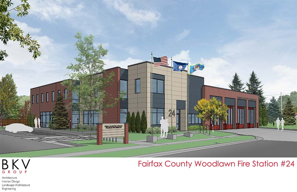 A rendering of the new Woodlawn Fire Station