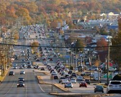 Richmond Highway is scene in the fall