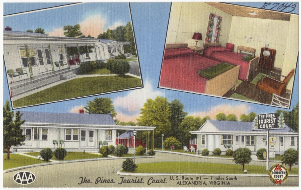 Postcard of motel